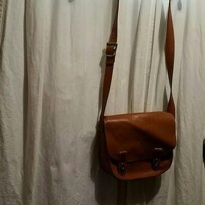 Large Vintage leather  Fossil handbag